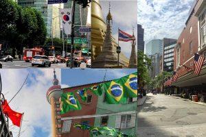 各国の街並みにはこんなに自国の国旗があるんです!!